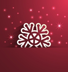 snowflake shape paper effect vector image