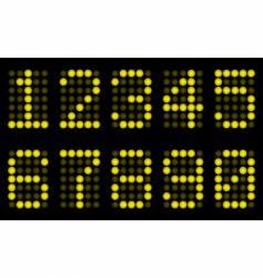 yellow digits for matrix display vector image vector image