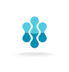 Abstract molecular structures logo template vector image