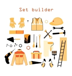 Collection elements for building and repair vector image