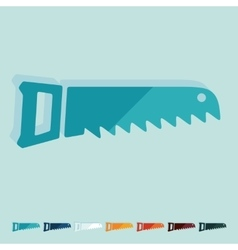 Flat design hand saw vector image vector image