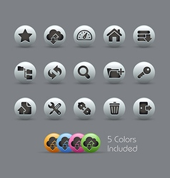 Hosting Icons Pearly Series vector image vector image