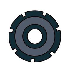 color sketch silhouette gear wheel icon vector image vector image