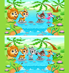 Difference Jungle vector image