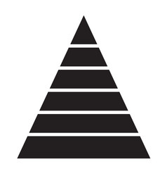 pyramid chart icon on white background pyramid vector image vector image