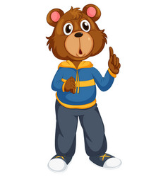A bear cartoon character vector