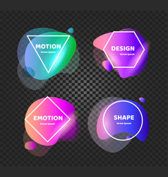 abstract background shapes banner unusual vector image