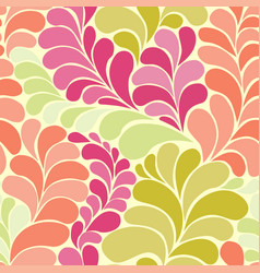 Abstract botanic hippi 60s seamless pattern vector