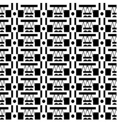 abstract geometric black and white seamless vector image