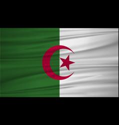 algeria flag algeria flag blowig in the wind eps vector image
