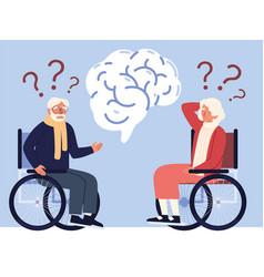 Alzheimer disease people vector