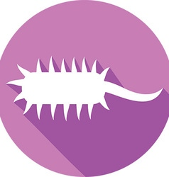 Bacteria Cell Icon vector