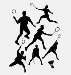 Badminton sport tournament silhouette vector