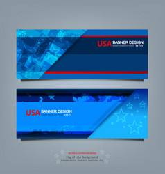 banner of america vector image