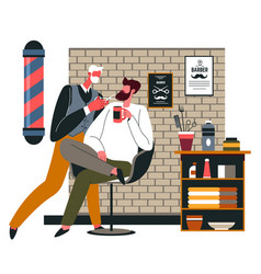 Barber shop for men professional hairstyling care vector