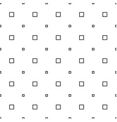 Black and white seamless square pattern vector
