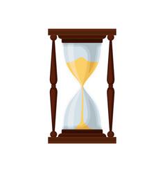 Black hourglass sandglass device for measuring vector