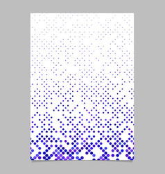 blue circle pattern brochure background vector image
