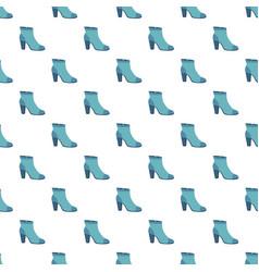 blue woman shoe pattern seamless vector image