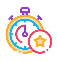 bonus stopwatch concept icon outline vector image