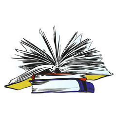 Books and pics albums vector