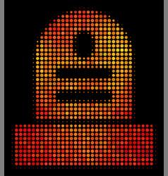Bright dot grave icon vector