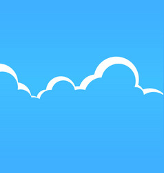 cartoon cloudspace vector image