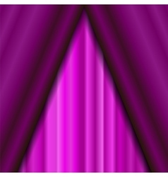 Cinema Closed Pink Curtain vector