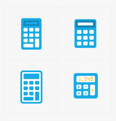 Colorful calculator icons set vector