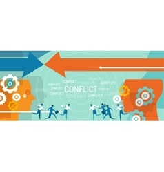 Conflict management business problem vector