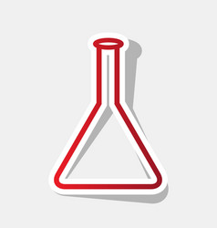 conical flask sign new year reddish icon vector image
