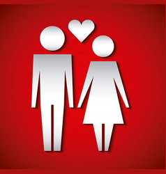 couple holding hands love heart family protection vector image