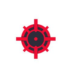 crosshair logo vector image