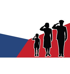 Czech Republic soldier family salute vector image