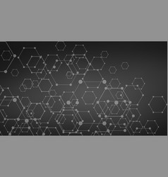 dark futuristic dna abstract molecule cell vector image