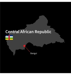 detailed map central african republic and vector image