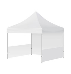Display tent mockup with two walls isolated vector