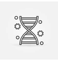 DNA linear icon vector image