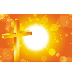 easter jesus cross background 3 vector image