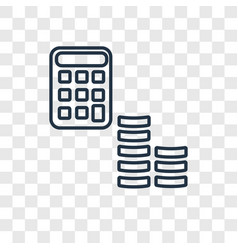 economy concept linear icon isolated on vector image