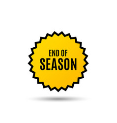 End of season sale special offer price sign vector