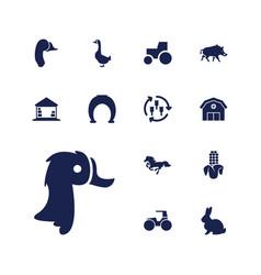 Farm icons vector