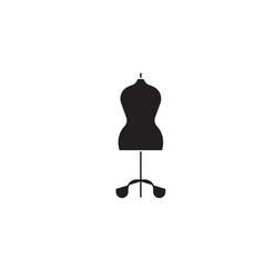 fashion mannequin black concept icon vector image