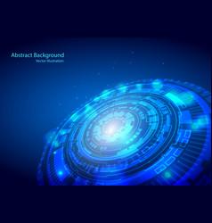 futuristic interface hud techno circle abstract vector image