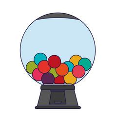 Gums crystal ball dispenser blue lines vector