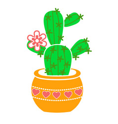icon of a potted fcactus vector image