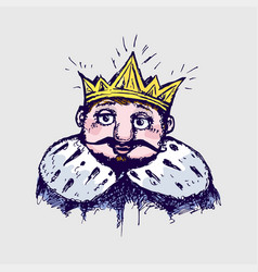 image of the king vector image