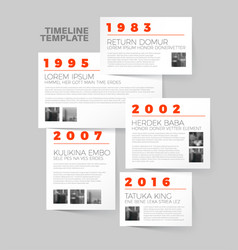 infographic typography timeline report template vector image