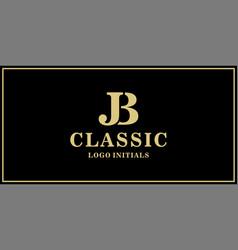 Jb monogram classic vector