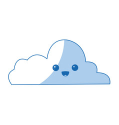 Kawaii cloud computing data information vector